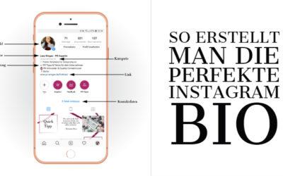 Die perfekte Instagram Bio erstellen