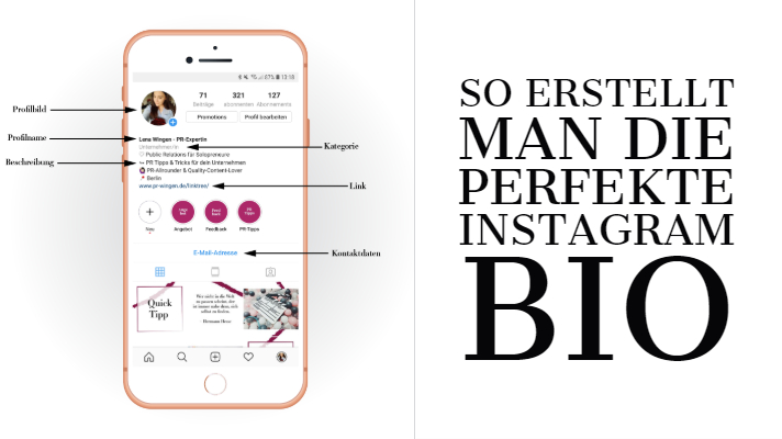 So Erstellt Man Eine Perfekte Instagram Bio Pr Wingen